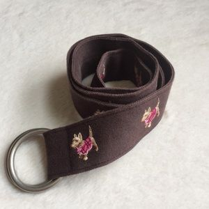 J. Crew Dog Embroidered Belt